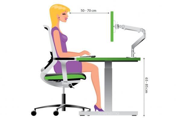 bureaustoel instellen juiste zithouding. Black Bedroom Furniture Sets. Home Design Ideas